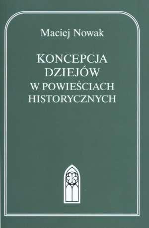 Koncepcja dziejów w powieściach - okładka książki