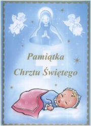 Pamiątka chrztu świętego (niebieska) - okładka książki
