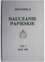 Nauczanie papieskie 1985. Tom VIII/1 - okładka książki