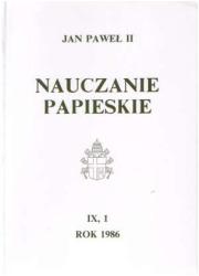 Nauczanie papieskie 1986. Tom IX/1 - okładka książki