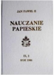 Nauczanie papieskie 1986. Tom IX/2 - okładka książki