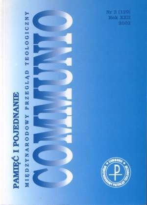 Communio nr 3(129)/2002. Pamięć - okładka książki