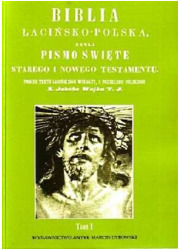 Biblia łacińsko-polska, czyli Pismo - okładka książki