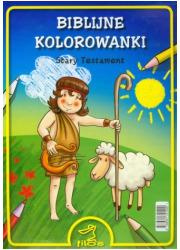 Biblijne kolorowanki. Stary Testament - okładka książki