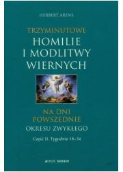 Trzyminutowe homilie i modlitwy - okładka książki