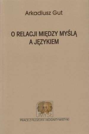 O relacji między myślą a językiem - okładka książki