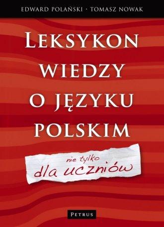 Leksykon wiedzy o języku polskim - okładka książki