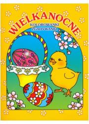 Wielkanocne kolorowanki zgadywanki - okładka książki
