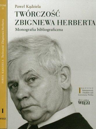 Twórczość Zbigniewa Herberta. Monografia - okładka książki