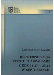 Reinterpretacja tekstu o Abrahamie - okładka książki