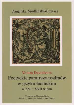 Votum Davidicum Poetyckie parafrazy - okładka książki