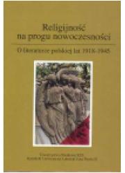 Religijność na progu nowoczesności. - okładka książki