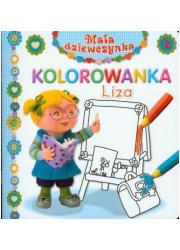 Liza. Kolorowanka. Mała dziewczynka - okładka książki