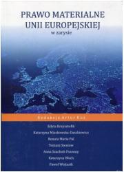 Prawo materialne Unii Europejskiej - okładka książki