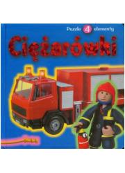 Ciężarówki. Książka z puzzlami - okładka książki