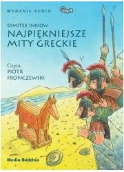 Najpiękniejsze mity greckie (CD - okładka książki