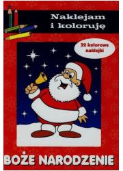 Boże Narodzenie. Naklejam i koloruję - okładka książki