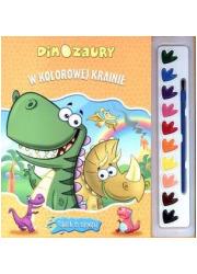 W kolorowej krainie. Dinozaury. - okładka książki
