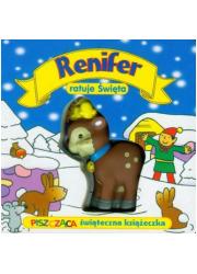 Renifer ratuje Święta - okładka książki