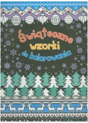 Świąteczne wzorki do kolorowania - okładka książki