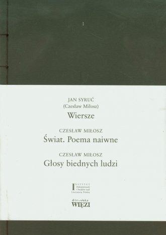 Wiersze. Świat. Poema naiwne. Głosy - okładka książki
