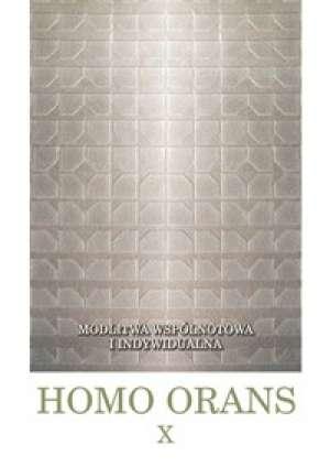 Homo orans. Tom 10. Modlitwa wspólnotowa - okładka książki