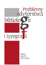 Problemy edytorstwa, bibliologii - okładka książki