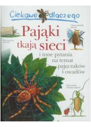 Ciekawe dlaczego pająki tkają sieci - okładka książki