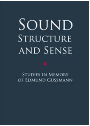 Sound Structure and Sense. Studies - okładka książki