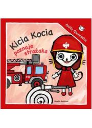 Kicia Kocia poznaje strażaka - okładka książki