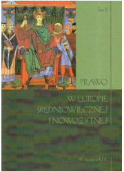 Prawo w Europie średniowiecznej - okładka książki