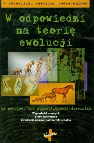 W odpowiedzi na teorię ewolucji - okładka książki