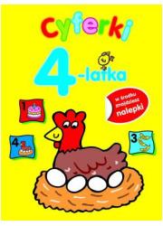 Cyferki 4-latka - okładka książki