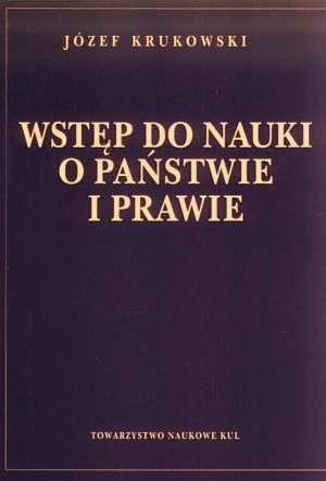 Wstęp do nauki o państwie i prawie - okładka książki