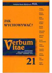 Verbum vitae 21 (2012). Jak wychowywać? - okładka książki