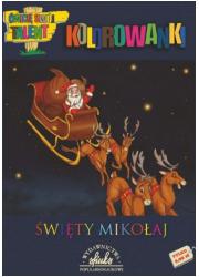 Święty Mikołaj. Kolorowanka - okładka książki