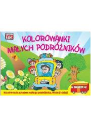 Kolorowanki małych podróżników - okładka książki