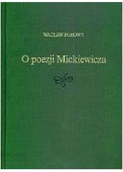 O poezji Mickiewicza - okładka książki