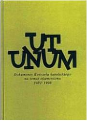 Ut unum. Dokumenty Kościoła Katolickiego - okładka książki