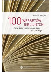 100 wersetów biblijnych które każdy - okładka książki