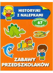 Zabawy przedszkolaków. Historyjki - okładka książki