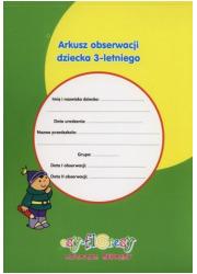 Arkusz obserwacji dziecka 3-letniego - okładka książki
