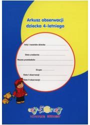 Arkusz obserwacji dziecka 4-letniego - okładka książki