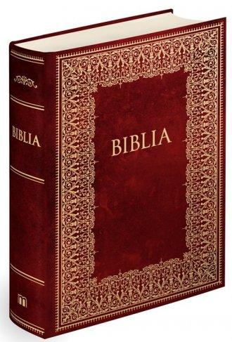 Biblia domowa 2017 Bordowa ze złoceniami - okładka książki