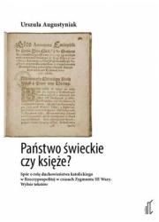 Państwo świeckie czy księże? Spór - okładka książki