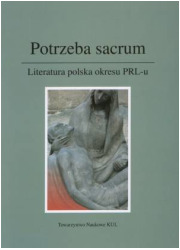 Potrzeba sacrum. Literatura polska - okładka książki