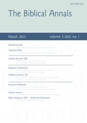 The Biblical Annals. Volume 3(60)-1 - okładka książki