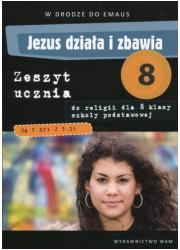 Jezus działa i zbawia 8 Zeszyt - okładka podręcznika