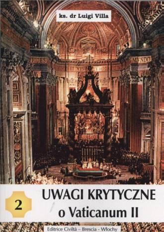 Uwagi krytyczne o Vaticanum II - okładka książki