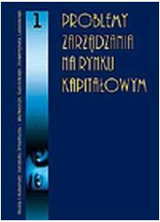 Problemy zarządzania na rynku kapitałowym - okładka książki
